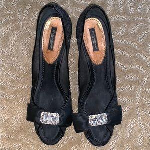 Black heels diamond bow- Dolce & Gabbana